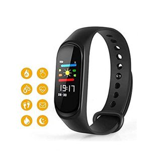 M3 Colorscreen Multi Touch Smart Bracelet Heart Rate Monitor Bluetooth Smartband Health Fitness Tracker for Android iOS - Black