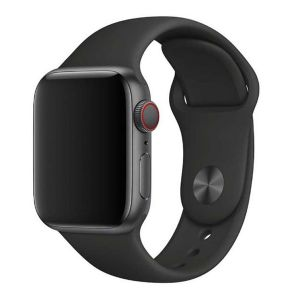Porodo Silicone Watch Band for Apple Watch 40mm / 38mm - Black