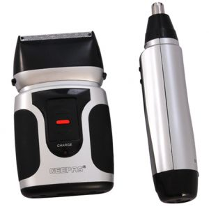 Geepas 2-in-1 Men's Shaver with Nose Trimmer- GSR110N