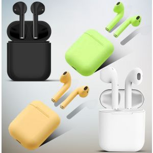 inpods 12 Bluetooth Earphones With Charging Case – Black, Yellow, Green , White