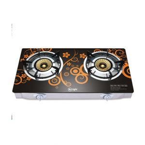 Mr.Light Two Burner gas Stove Mr.GB2B04 – GS With Blue flame technology