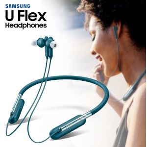 Samsung U Flex Bluetooth Wireless In-ear Flexible Headphones with Microphone -Blue