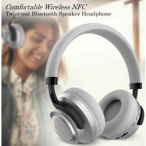 Sodo 1005 Comfortable Wireless Headphone NFC Twist-out Bluetooth Speaker Headphone with Microphone