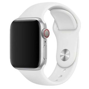 Porodo Silicone Watch Band for Apple Watch 44mm / 42mm - White
